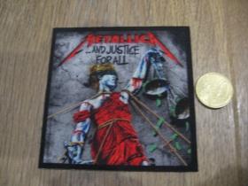 Metallica ofsetová nášivka po krajoch neobšívaná cca. 9x9cm