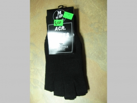 """Rukavice pletené, hrubé """"bez prstov"""" čierne 100%akryl"""