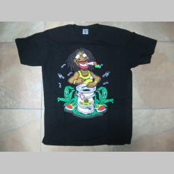 Legalize- Rastaman, čierne pánske tričko 100%bavlna