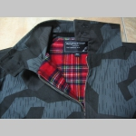 "Harrington, bunda bez loga s podšívkou červené káro TARTAN ""jar/jeseň farba nočný ihličnatý maskáč Nightcamo SPLINTER"