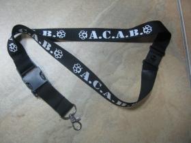 A.C.A.B. textilná šnúrka na krk ( kľúče)  materiál 100% bavlna