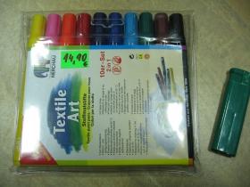 Fixky na textil,  sada 10 farieb