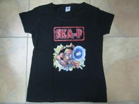 SKA-P čierne dámske tričko Fruit of The Loom