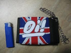 Oi! hrubá pevná textilná peňaženka s retiazkou a karabínkou