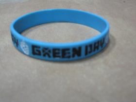 Green Day  pružný silikónový náramok s vyrazeným motívom