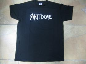 Antidote čierne pánske tričko 100 %bavlna