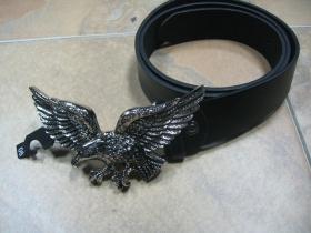 OROL, čierny opasok s kovovou prackou, univerzálna veľkosť