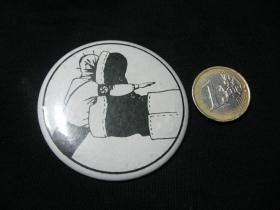 Stop Nacizmu!!  odznak veľký,  priemer 55mm
