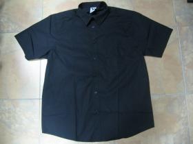 Pánska čierna košela s krátkym rukávom materiál 100%bavlna,  otvorené vrecko na hrudi