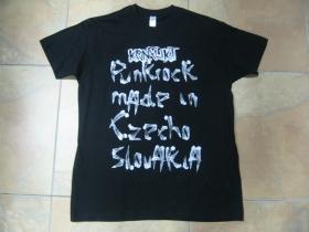 Konflikt čierne pánske tričko s obojstrannou potlačou 100% bavlna
