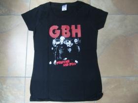 GBH čierne dámske tričko Fruit of The Loom