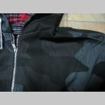 """Ihličnatý nočný maskáč - Nightcamo SPLINTER bunda Harrington s kapucou s podšívkou červené káro TARTAN """"jar/jeseň"""