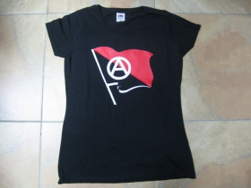 Anarchy vlajka dámske tričko 100%bavlna značka Fruit of The Loom