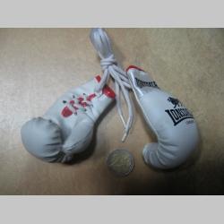 Lonsdale mini Boxerské rukavice prívesok na šnúrke vhodný aj do interiéru auta pre zavesenie na spätné zrkadlo (cena za jeden zviazaný pár)