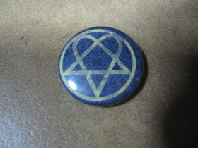 HIM - Hertagram, odznak priemer 25mm