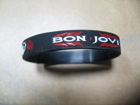 Bon Jovi  pružný gumenný náramok s vyrazeným motívom
