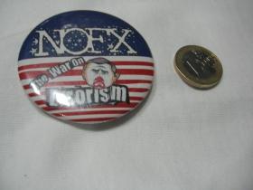 NOFX  odznak veľký,  priemer 55mm