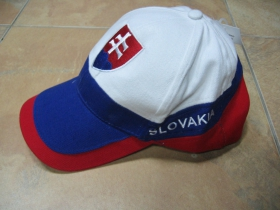 Slovensko / Slovakia šiltovka 100%bavlna modročervená, univerzálna veľkosť