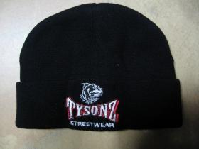 Tysonz čierna zimná čiapka s vyšívaným logom  materiál 100% akryl  univerzálna veľkosť