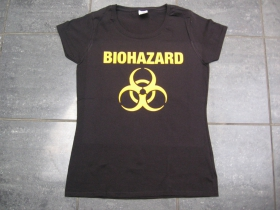 Biohazard čierne dámske tričko 100%bavlna