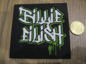 Billie Eilish ofsetová nášivka po krajoch neobšívaná cca. 9x9cm