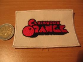 Clockwork orange,  vyšívaná nášivka