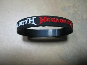 Megadeth  pružný gumenný náramok s vyrazeným motívom