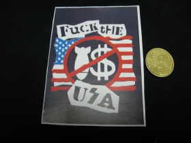 Fuck The USA  nálepka 10x7cm