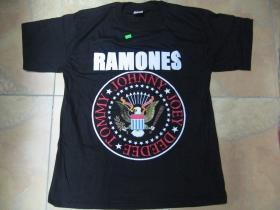 Ramones Hey ho lets Go! čierne pánske tričko 100%bavlna
