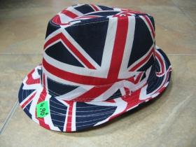 UNION JACK klobúk plátený s motívom Britskej vlajky 100%bavlna univerzálna veľkosť