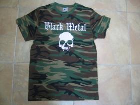 Black Metal  pánske maskáčové tričko 100%bavlna