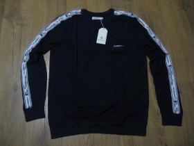 Ben Sherman tmavomodré pánske tričko s dlhým rukávom, materiál 100% bavlna