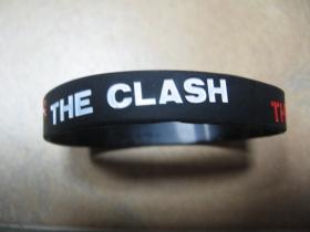 The Clash  pružný gumenný náramok s vyrazeným motívom