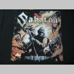 Sabaton čierne pánske tričko 100%bavlna