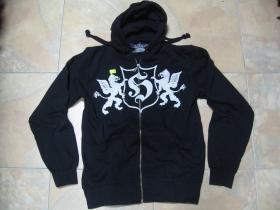 Hooligan, mikina DRAGON,  na zips, čierna s potlačou 100%bavlna