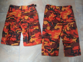 Kraťasy BDU kapsáčové (krátke aj 3/4ťové- cena za 1kus) oranžové metro, 65%bavlna 35%polyester