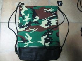maskáč woodland sťahovacie vrecko ( batôžtek / vak ) s čiernou šnúrkou