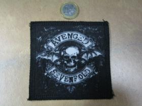 Avenged Sevenfold ofsetová nášivka po krajoch obšívaná cca. 9x9cm