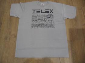 TELEX šedé pánske tričko materiál 100%bavlna
