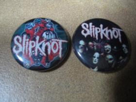 Slipknot, odznak priemer 25mm, (počet kusov a konkrétny model napíšte na konci objednávky do rubriky KOMENTÁR)