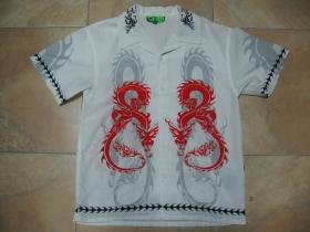 Detská košela TATTOO biela 100%polyester posledný kus veľkosť L.