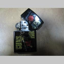 Guns n Roses doplňovací benzínový zapalovač s vypalovaným obrázkom (balené v darčekovej krabičke)
