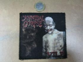 Cannibal Corpse ofsetová nášivka po krajoch obšívaná cca. 9x9cm