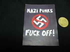 Dead Kennedys - Nazi Punks Fuck Off!  nálepka 10x7cm