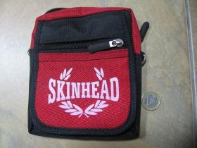 Skinhead červenočierna taštička na opasok