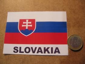 Slovensko - Slovakia papierová nálepka s rozmermy 10x7cm (interiérová)