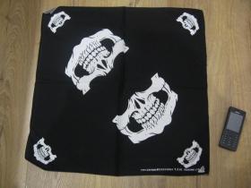 Rock smrtka - lebka , Šatka 100%bavlna, rozmery cca.52x52cm