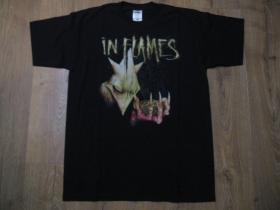 In Flames čierne pánske tričko materiál 100% bavlna