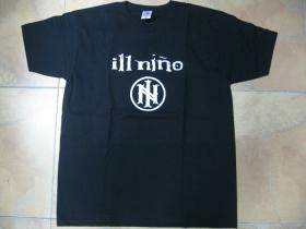 ill Niňo  čierne pánske tričko 100%bavlna