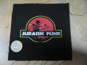 Jurassic Punk  potlačená nášivka rozmery cca. 12x12cm (po krajoch neobšívaná